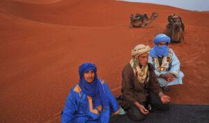 Morocco blue men of the Sahara Biotrek Adventure Travel Tours