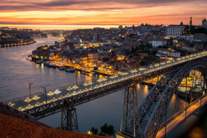 porto portugal sunset Biotrek Adventure Travel Tours